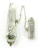 Vintage Sterling Silver Ornate Needle Case