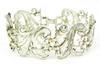 Vintage Wide Sterling Panel Link Bracelet