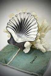 Tiffany Sterling Clam Shell Serving Dish