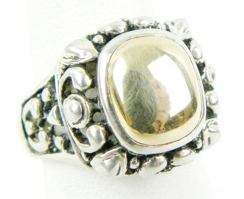 Sterling/14K Gold Ring, Size 6.5