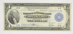 1918 $1 National Currency Note - Philadelphia, PA - Horse Blanket