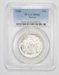 MS66 1920 Maine Commemorative Half Dollar - Graded PCGS