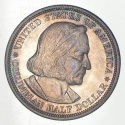 1893 Columbian Exposition Commemorative Half Dollar - Toned