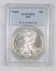 MS70 1997 American Silver Eagle - Graded PCGS
