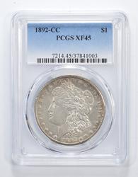 XF45 1892-CC Morgan Silver Dollar - Graded PCGS