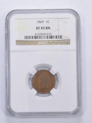 XF45 BN 1869 Indian Head Cent - Graded NGC