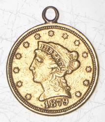 1879 $2.50 Liberty Head Gold Quarter Eagle - Love Token