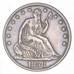 1858 Seated Liberty Half Dollar
