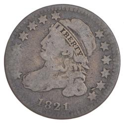 1821 Capped Bust Dime - Small Date