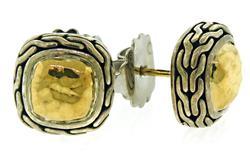 John Hardy Sterling Silver Gold Earrings