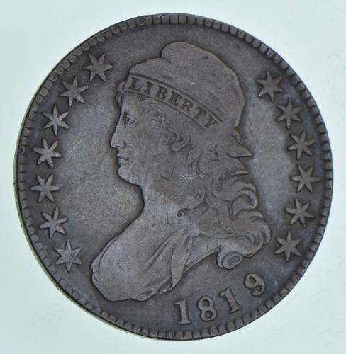 1819/8 Capped Bust Half Dollar - Large 9