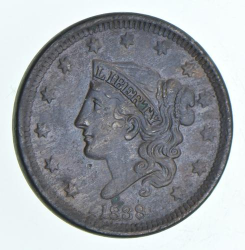 1838 Young Head Large Cent