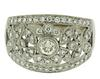 Fancy Milgrain and Diamond Floral Ring