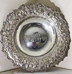 Ornate Hand Chased Kirk Sterling Bowl
