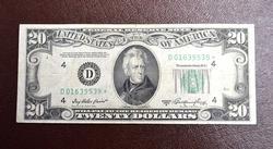 $20.00 1950-A CLEVELAND FRN STAR FR#2060-D*