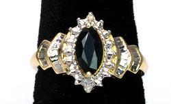 Sapphire & Diamond Ring in Yellow Gold