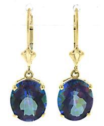 Cute Oval Mistic Topaz Dangle Earrings