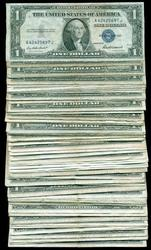 Pack of 100 Series of 1935  $1 Silver Certificate notes