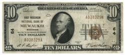 1929 Series $10 National of Milwaukee, WI (64)