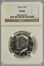 Awesome NGC PR69 1964 Proof Kennedy Half Dollar