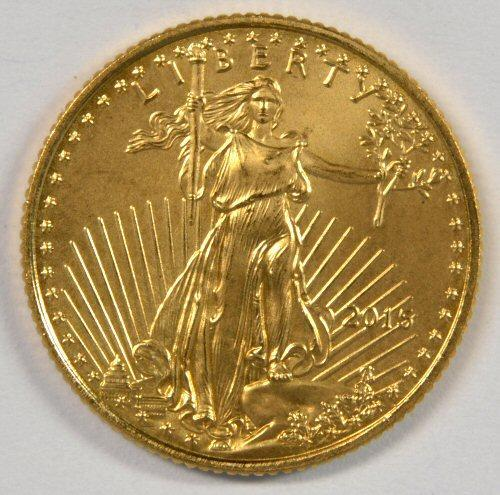 Superb Gem BU 2015 $5 American Gold Eagle