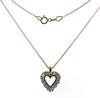 Vintage Diamond Heart Necklace