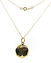 14kt Sand Dollar Charm Necklace