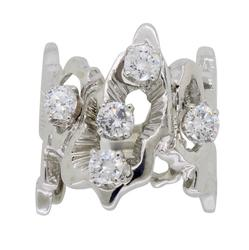 14K White Gold .80CTW Diamond Fashion Ring