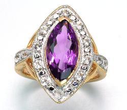 Darling  2.23CTW Vermeil Amethyst & Topaz Ring