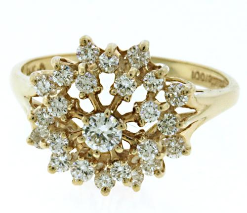 Amazing Diamond Domed Cluster Ring