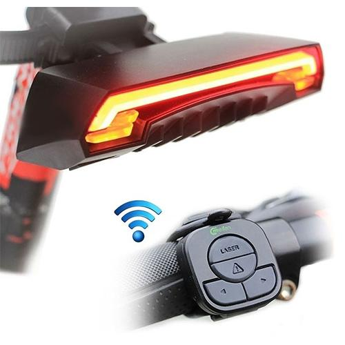 Bicycle Laser Tail Light w/ Turn Signals Auto Control