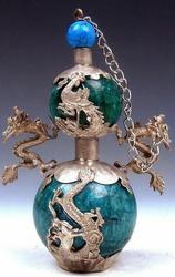 Tibetan Copper Dragon Snuff Bottle
