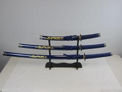 Blue and Black Dragon Samurai Katana Sword
