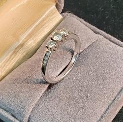 Beautiful 14k White Gold Diamond Ring