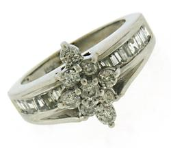Gorgeous Baguette & Round Diamond Band Ring