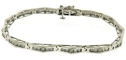Elegant 2.6ctw Channel Set Diamond Bracelet