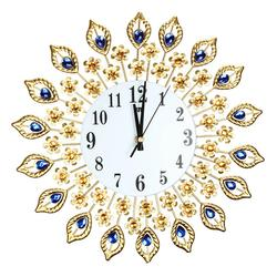 38x38cm Iron Art Gold Wall Clock European Style