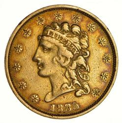 1835 $2.50 Classic Head Gold Quarter Eagle