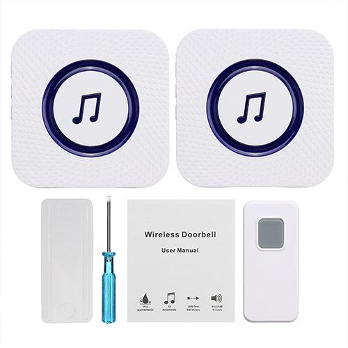 110V to 260V Wireless Chime Music Door Bell Waterproof