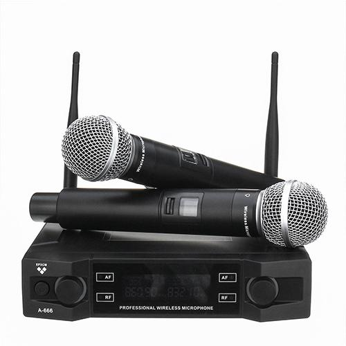 Wireless 2Ch Handheld Mic Cardioid Microphone System