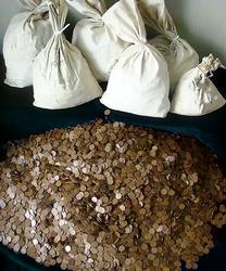 $25 Bag of Lincoln Wheat Cents Unsearched 2500 Plus