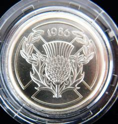 1986 Commonwealth Games Uncirculated Silver Coin