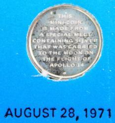Mini Coin Carried on Apollo 14 with COA