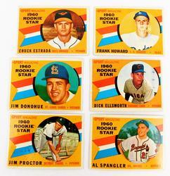 6 Sports Magazine 1960 Rookie Star Baseball Cards
