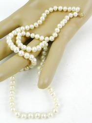 18 Inch Pearls with 10K Gold Clasp