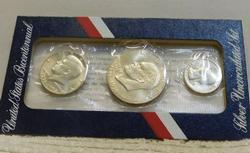 1976 Uncirculated Silver (40%)  3 pc BiCentennial Set