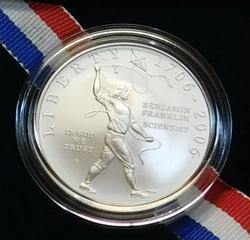 2006 Silver Unc Franklin, Scientist Dollar, Gov box/doc