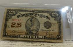 25 cent Canada Fractional Currency