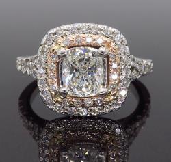 GIA Certified 1.66CTW Diamond Engagement Ring