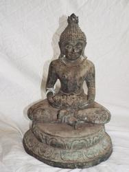 Rare Antique Burmese Buddha Statue COA FREE SHIPPING